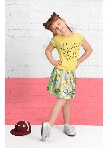 U.S. Polo Assn. U.S. Polo Assn Lisanslı Limon Sarı Kız Çocuk Gecelik Sarı